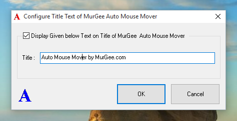 Configure Title Text of Auto Mouse Mover